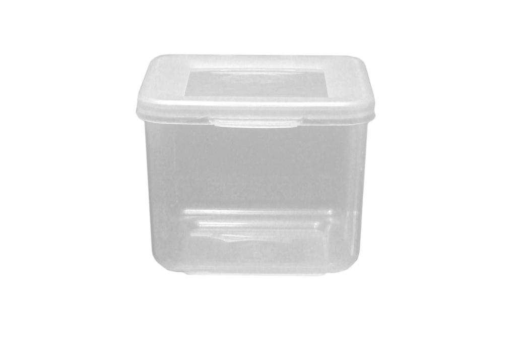 Beaufort Food Container Square Hinged Lid - 300ml Clear