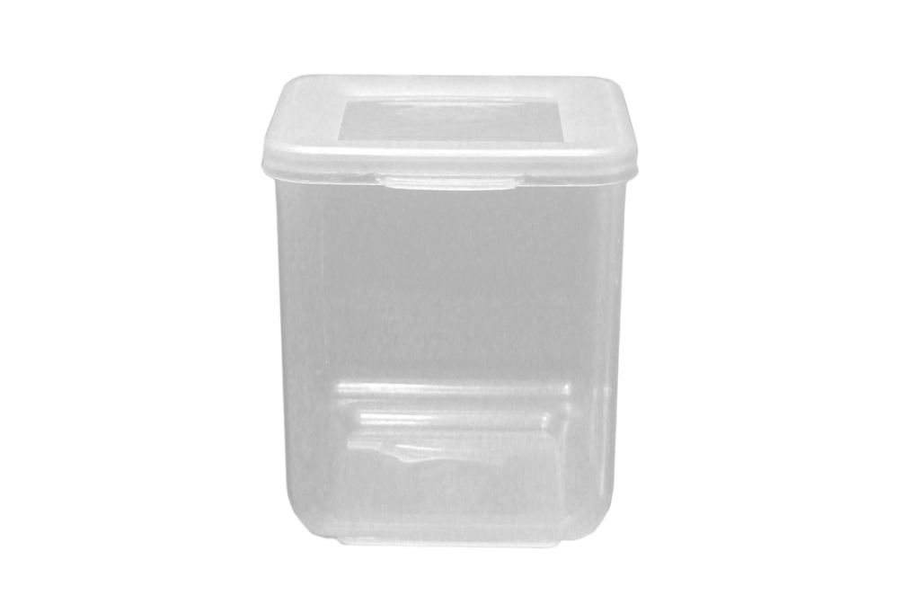 Beaufort Food Container Square Hinged Lid - 520ml Clear