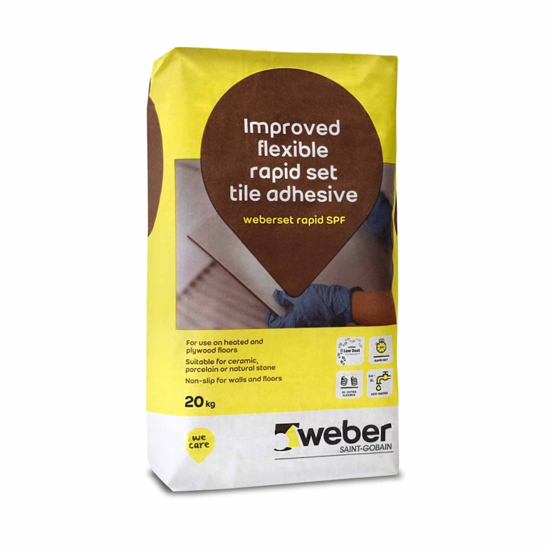Weber Set Rapid Spf Flexible Tile Adhesive 20kg Stax