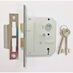 """Sterling 3 Lever Mortice Sash Lock 3"""" Brass Plated"""