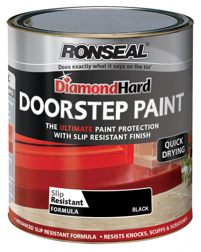 Ronseal Diamond Hard Door Step Paint 750ml - Black