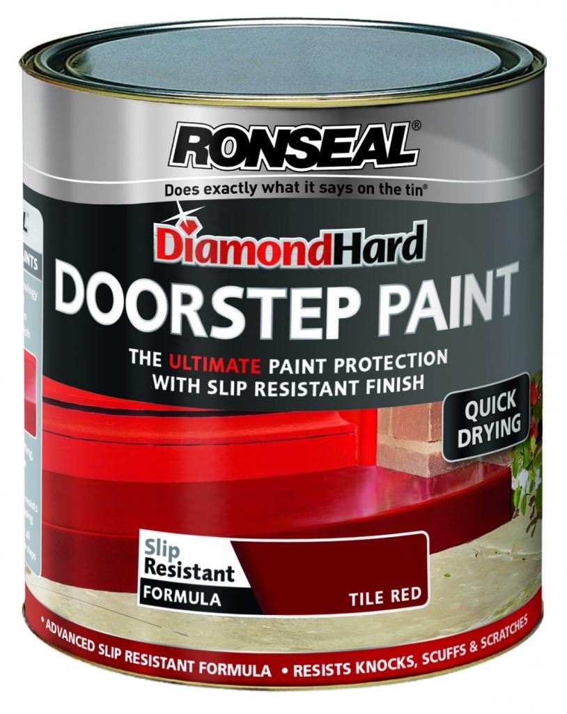 Ronseal Diamond Hard Door Step Paint 750ml - Red