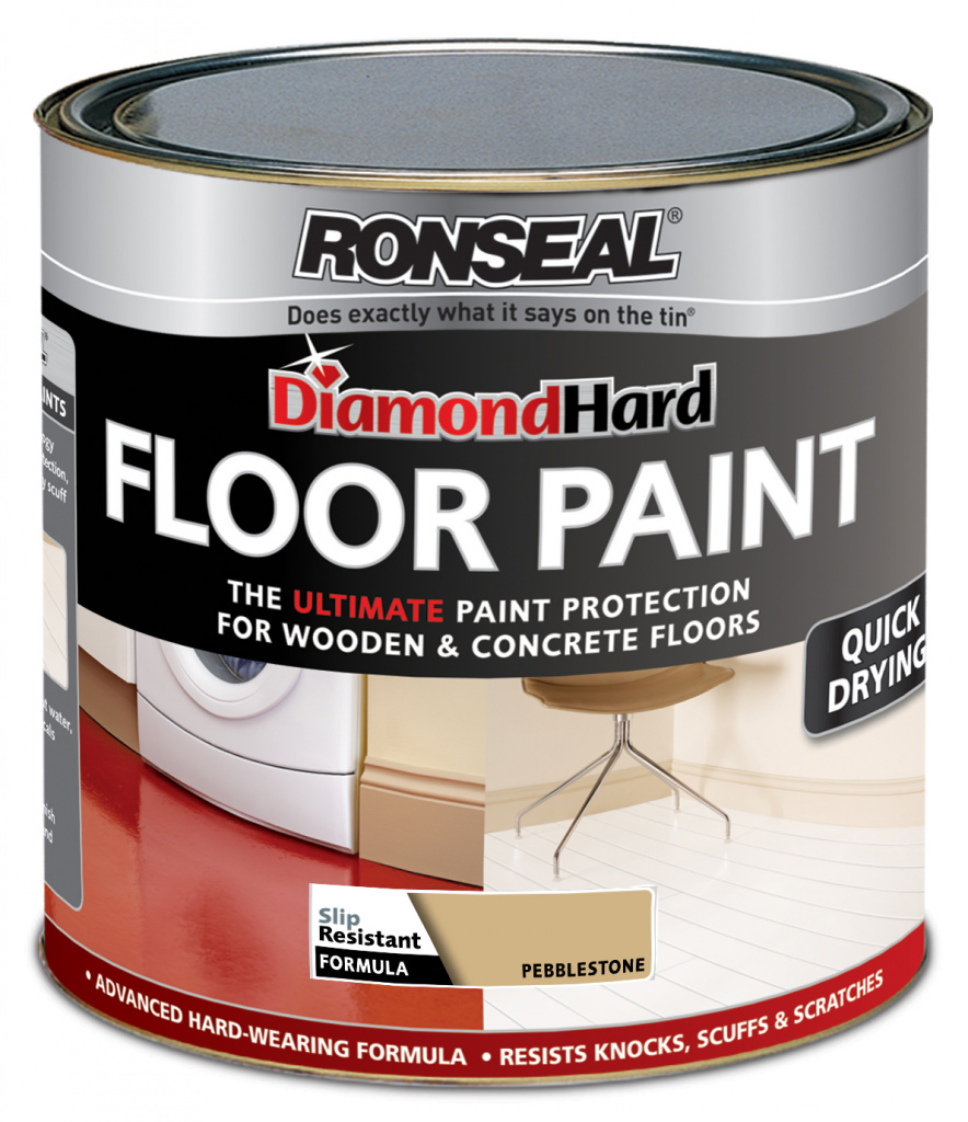 Ronseal Diamond Hard Floor Paint 750ml - Pebble