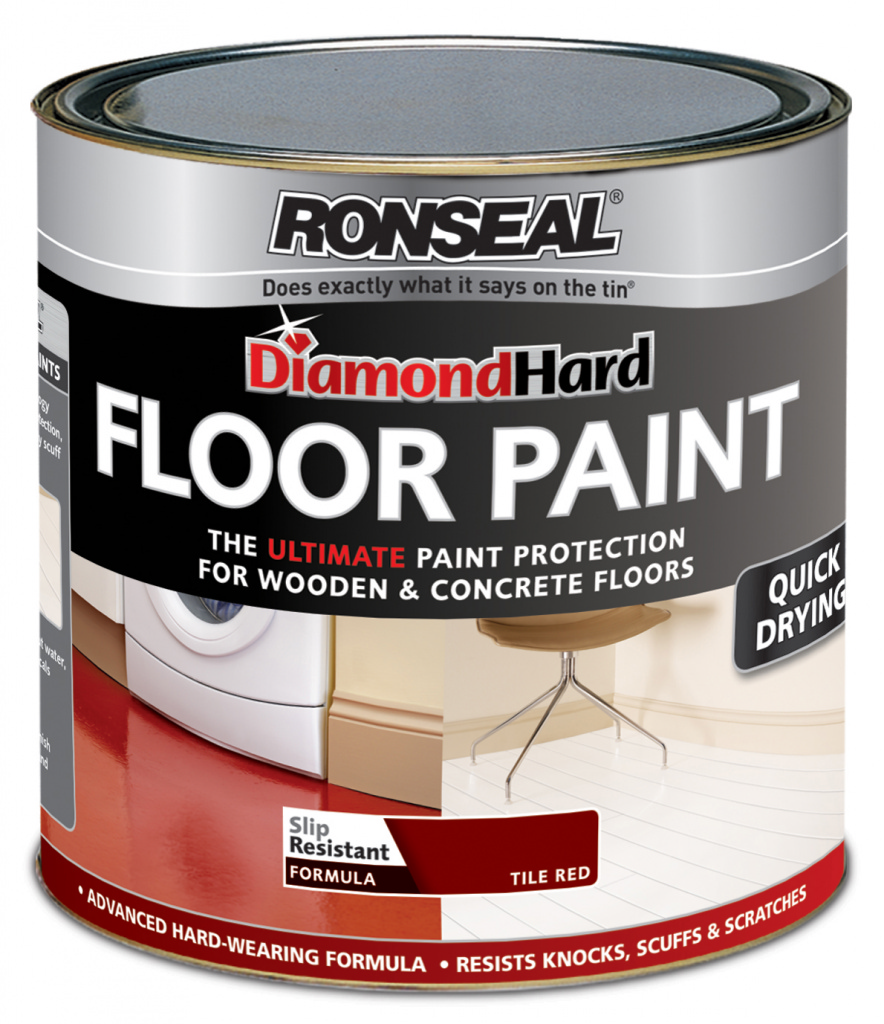 Ronseal Diamond Hard Floor Paint 750ml - Red