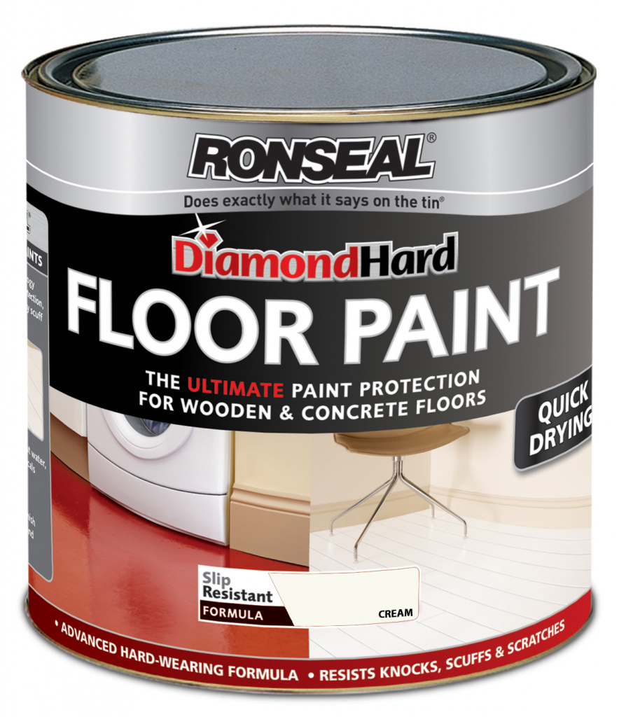 Ronseal Diamond Hard Floor Paint 2.5L - Cream