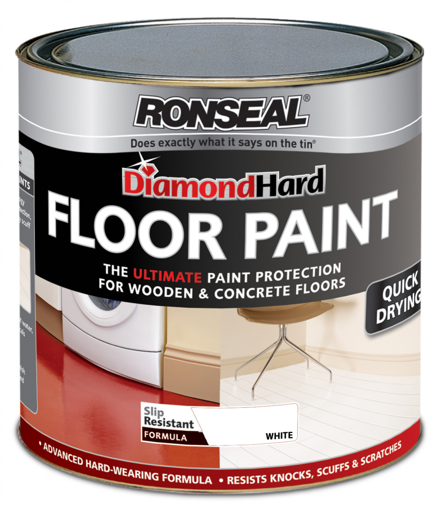 Ronseal Diamond Hard Floor Paint 2.5L - White Satin