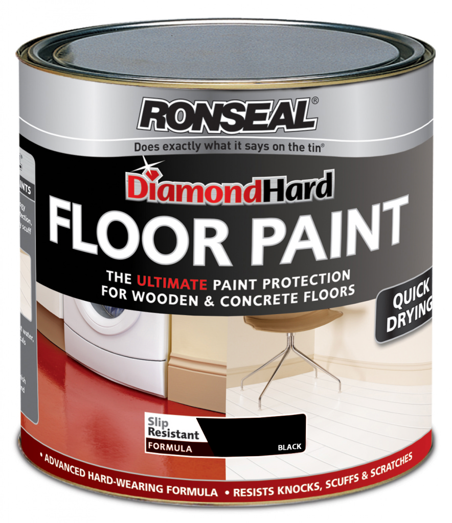 Ronseal Diamond Hard Floor Paint 750ml - Black