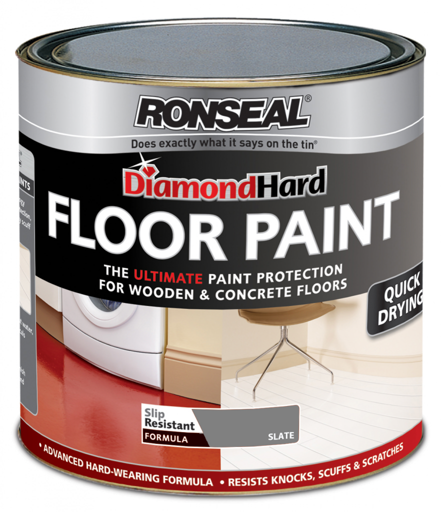 Ronseal Diamond Hard Floor Paint 750ml - Slate