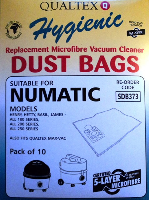 Numatic Henry AS200 Microfibre Bags - Pack of 10