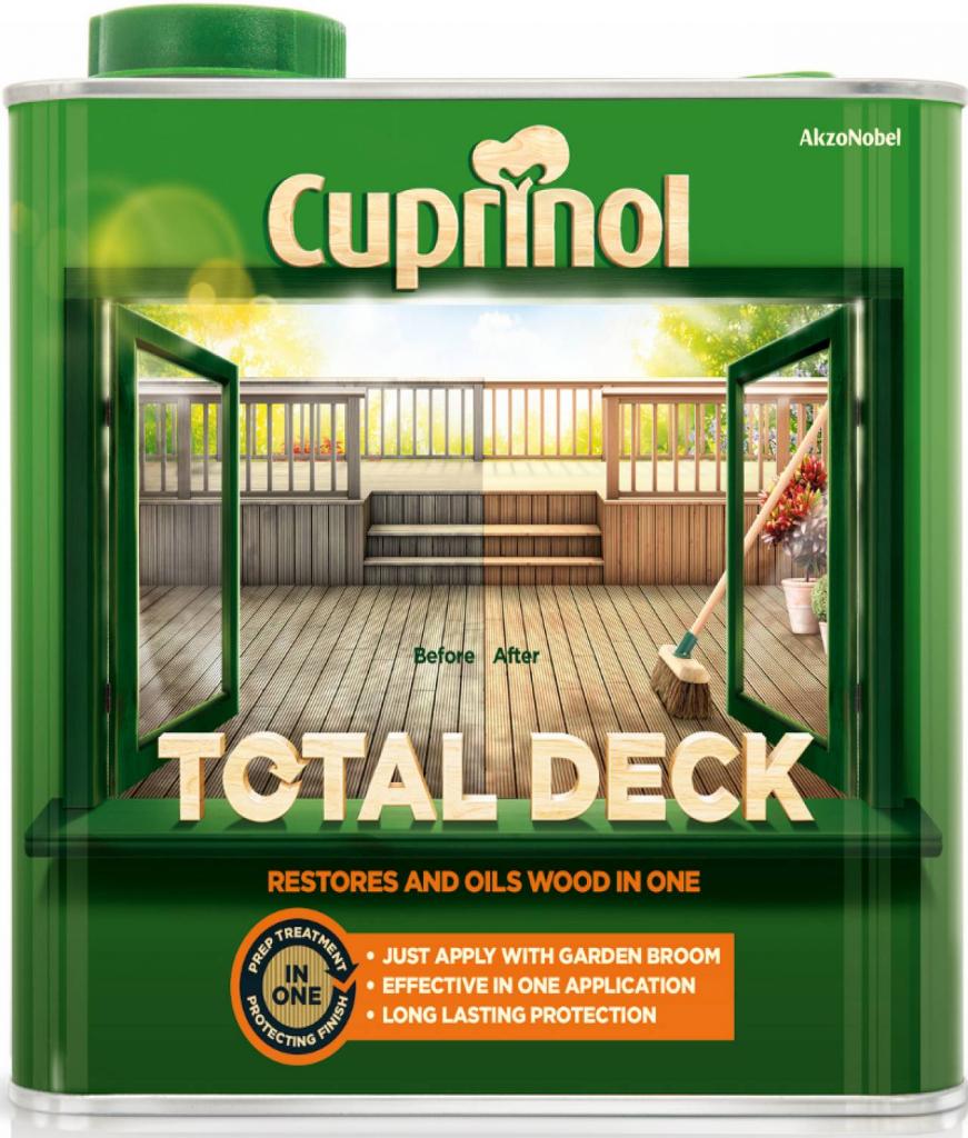 Cuprinol Total Deck Restorer & Oil 2.5L - Clear