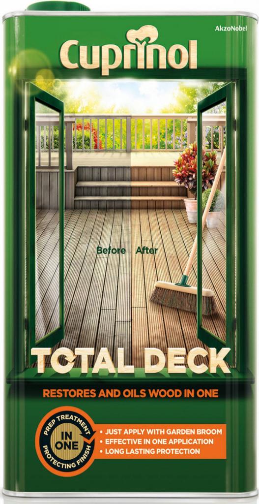 Cuprinol Total Deck Restorer & Oil 5L - Clear