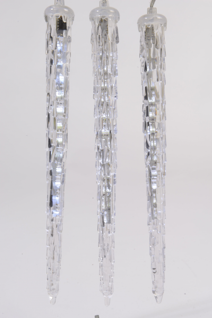Kaemingk LED 18cm Icicle Lights - 2.7m Cool White
