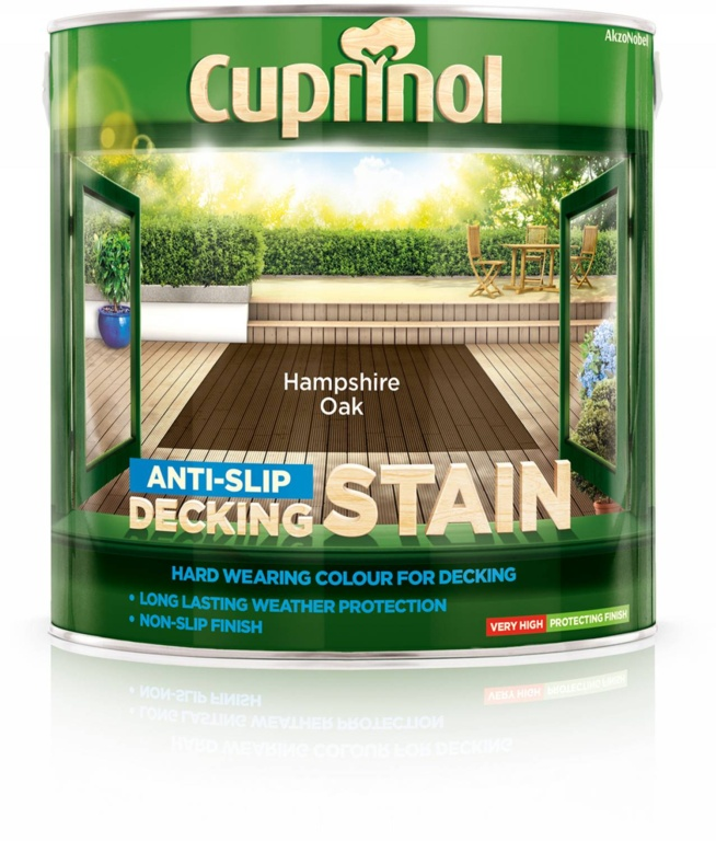 Cuprinol Anti Slip Decking Stain 2.5L - Hampshire Oak