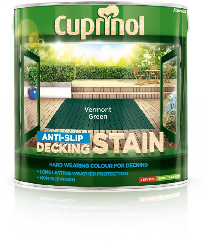 Cuprinol Anti Slip Decking Stain 2.5L - Vermont Green