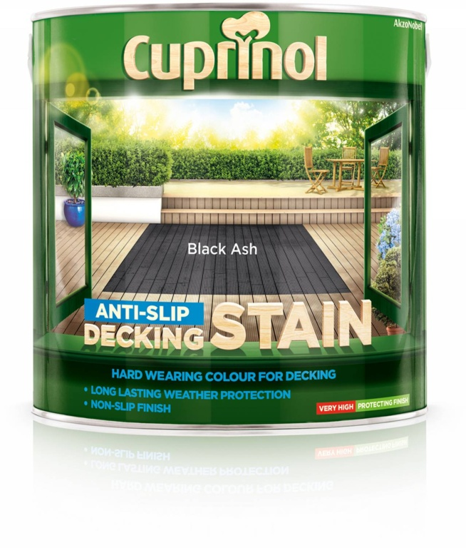 Cuprinol Anti Slip Decking Stain 2.5L - Black Ash
