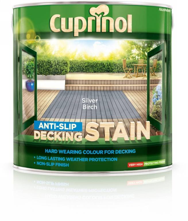 Cuprinol Anti Slip Decking Stain 2.5L - Silver Birch