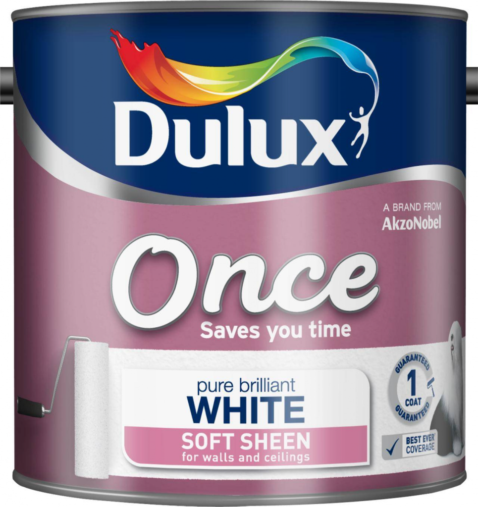 Dulux Once Soft Sheen 2.5L - Pure Brilliant White
