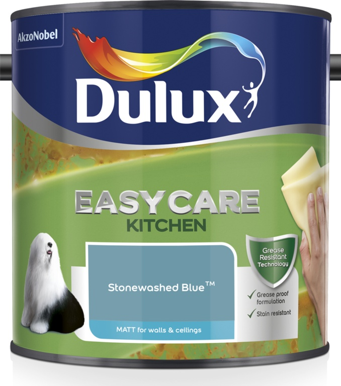Dulux Easycare Kitchen Matt 2.5L - Stonewashed Blue