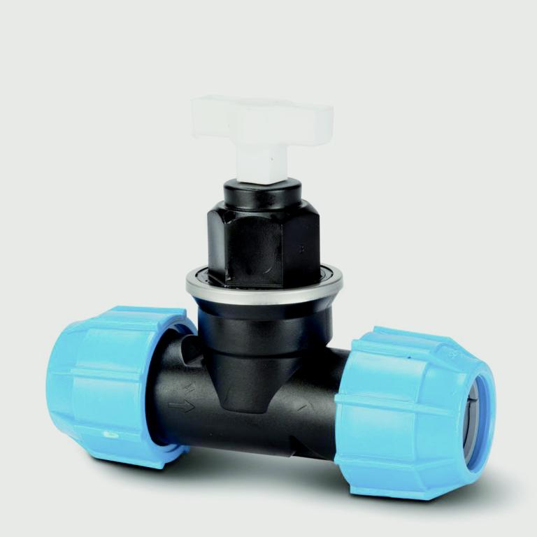 Eurotrade MDPE Compression Stop Valve - 25mm