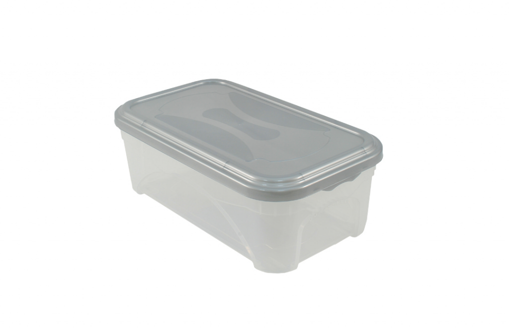 Premier Space Box - 11L Clear / Platinum Lid