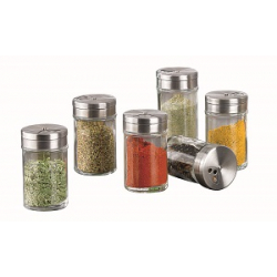 Spice Cannister Glass With Metal Lid - 48