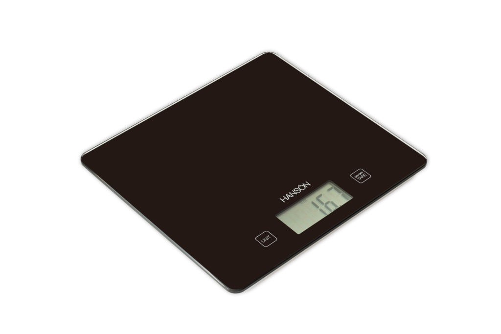 Terraillon Large Touch Sensitive Kitchen Scale With Liquid Black - 5kg