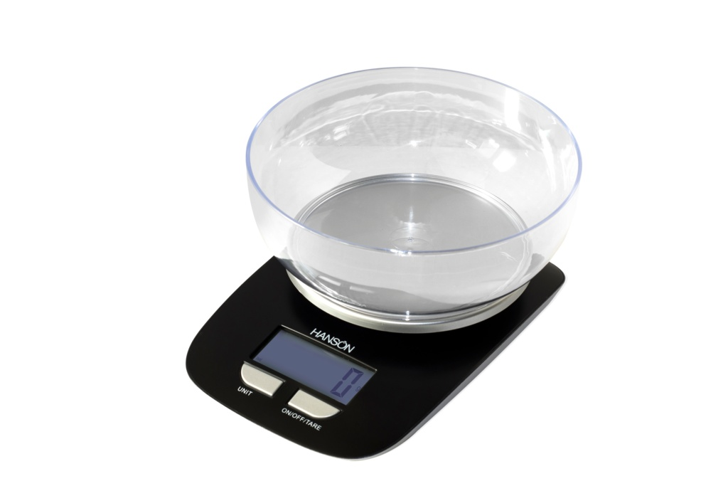 Terraillon Electronic Kitchen Scale With Transparent Bowl White - 3kg