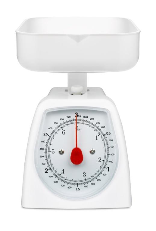 Terraillon Kitchen Scale With Bowl - 3kg White