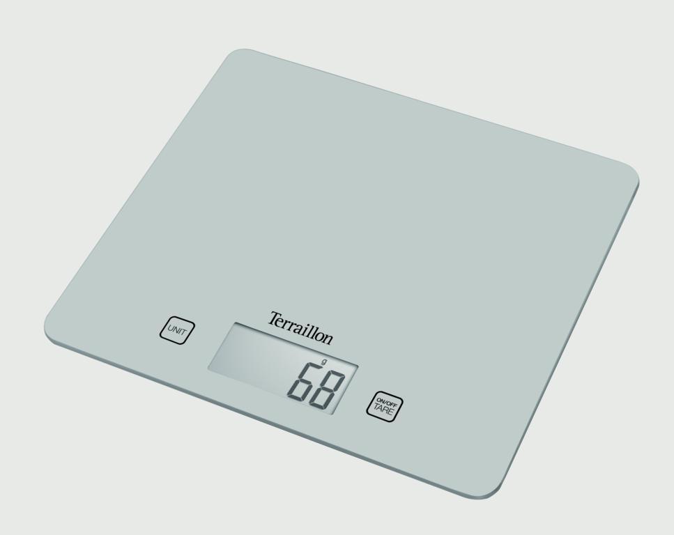 Terraillon Large Touch Sensitive Kitchen Scale With Liquid Silver - 5kg