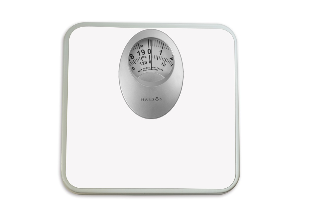 Terraillon Mechanical Bathroom Scale With Mag Disp White - 120kg