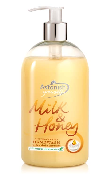 Astonish Handwash 500ml - Milk & Honey
