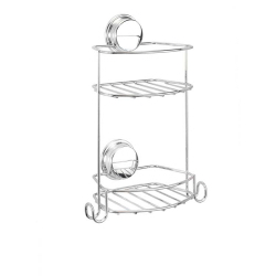 Croydex Stick N Lock Compact 2 Tier Storage Basket