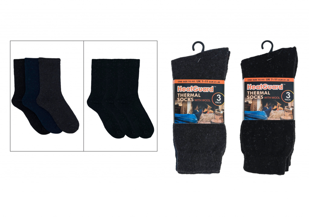 Laltex Mens Heatguard Socks - Pack 3