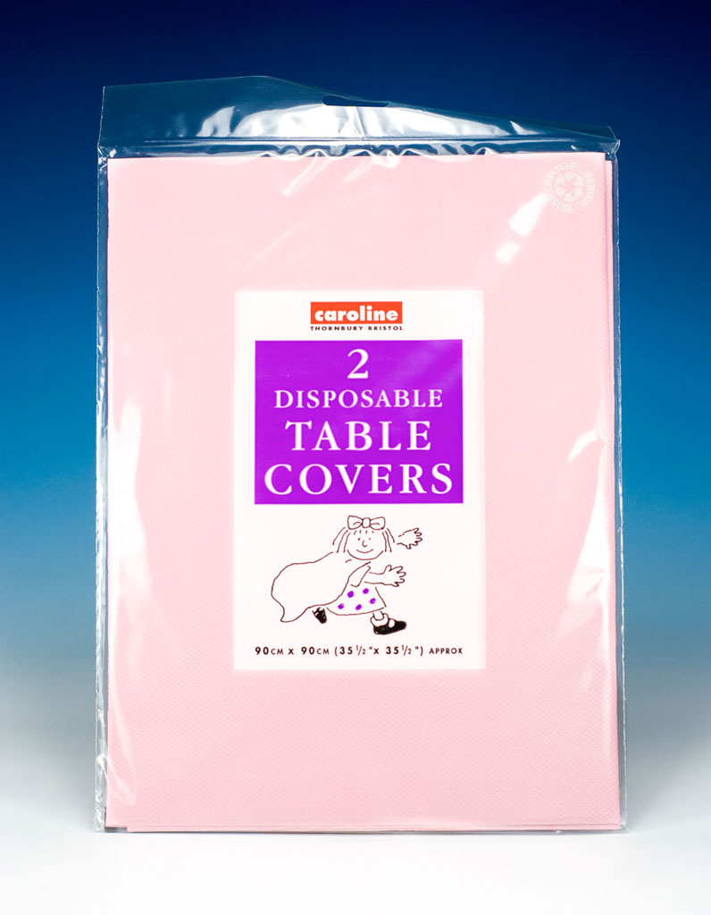 Caroline Square Paper Tablecovers - 90cm Pink