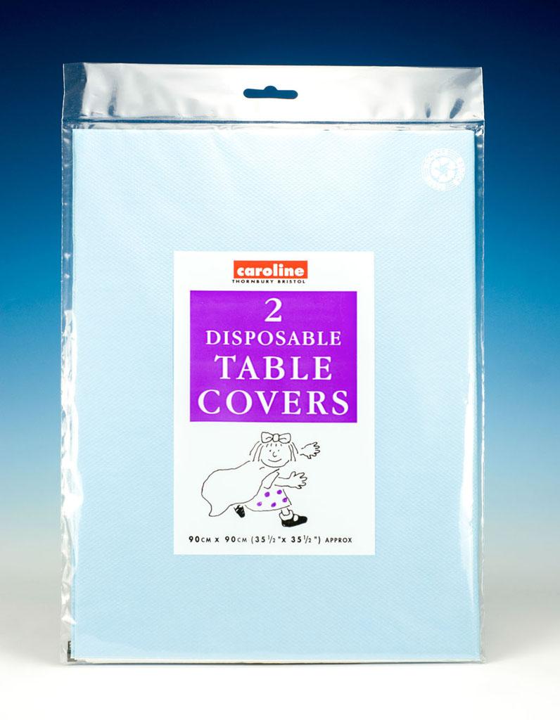 Caroline Square Paper Tablecovers - 90cm Light Blue