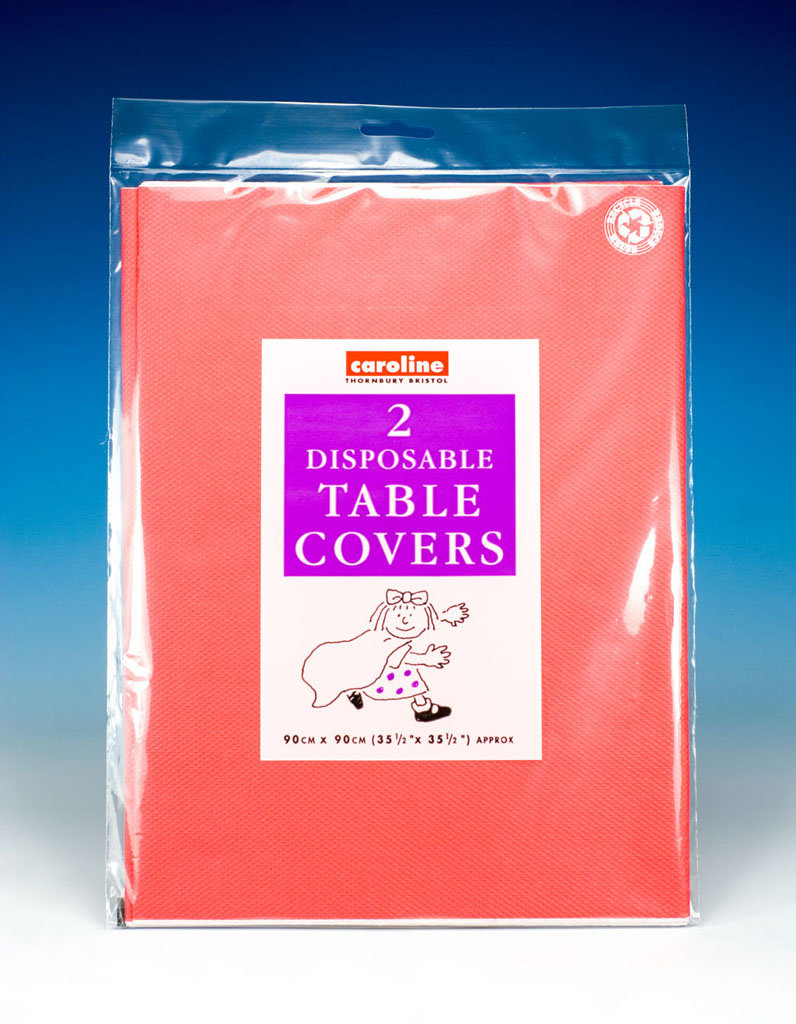 Caroline Square Paper Tablecovers - 90cm Red