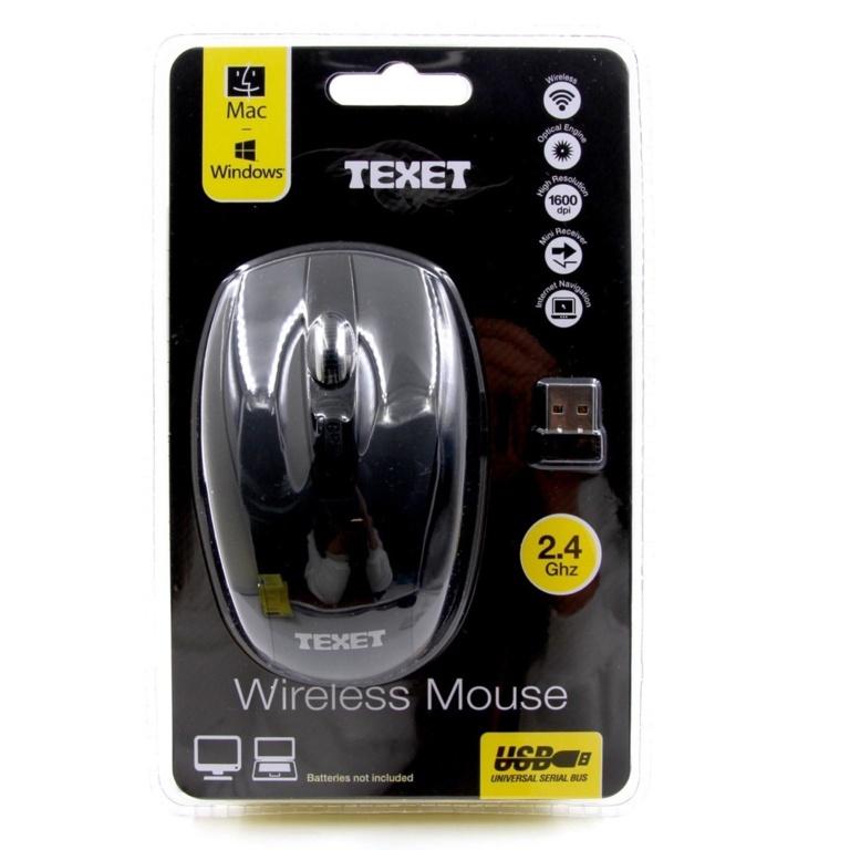 Texet Wireless Computer Mouse - 2.4 GHZ