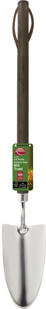 Ambassador Ash Handle Stainless Steel Midi Trowel - Length: 46cm