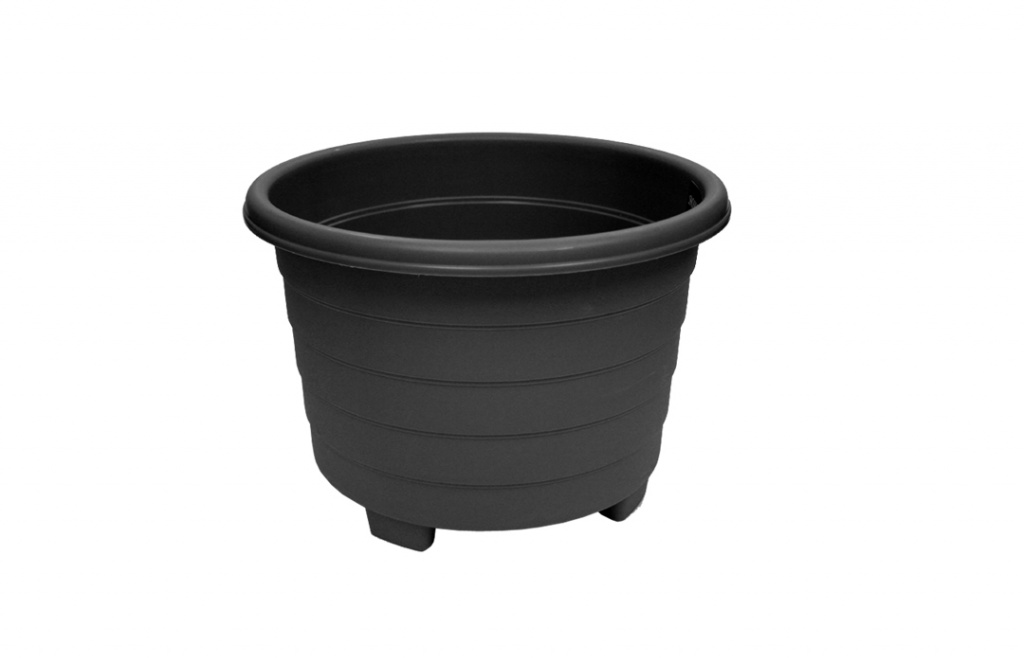 Grosvenor Round Planter - 32cm Ebony