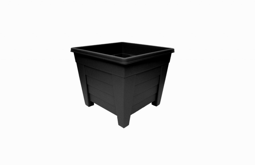 Grosvenor Square Planter - 27cm Ebony