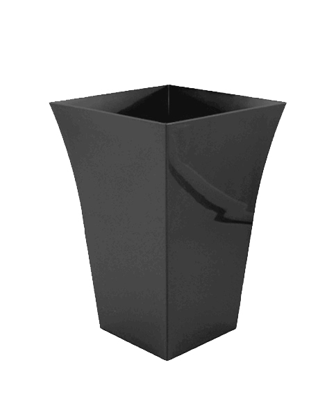 Milano Large Upright Planter - Ebony