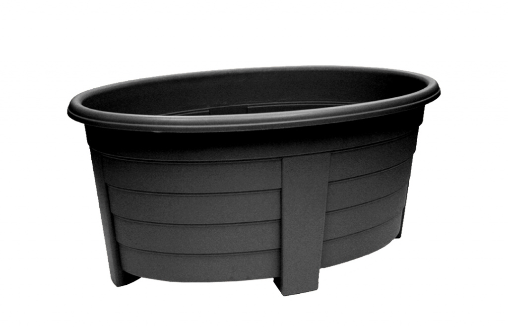 Grosvenor Oval Planter - 55cm Ebony