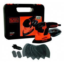Black & Decker Compact Mouse With Kit Box & 9 Accessories