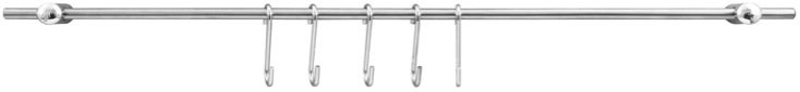 Probus Tool Rack with 6 Hooks - 58cm