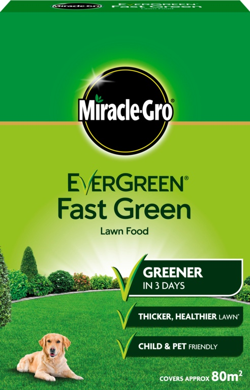 Miracle-Gro Evergreen Fast Green - 80m2 Box
