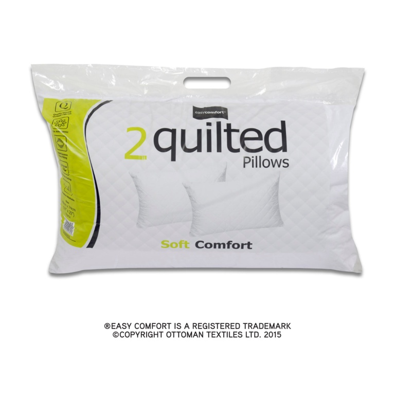 Easy Comfort Twin Quilted Pillow