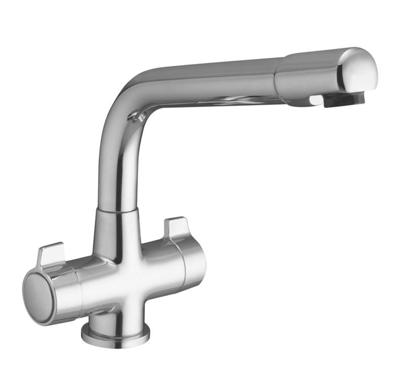 SupaPlumb Mono Block Mixer Sink Tap - H: 230mm D:230mm Diameter: 45mm