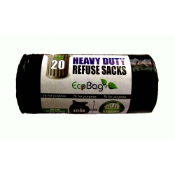 Ecobag Heavy Duty Refuse Sacks Black 20 x 100L