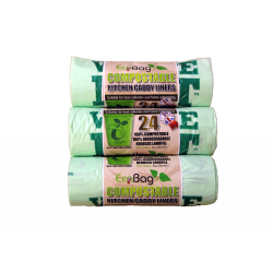 Ecobag 24 Compostable Caddy Liners