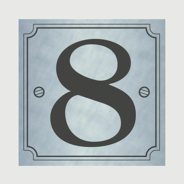 Classic designs house number silver stax trade centres for Classic house numbers